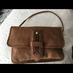 Lucky Brand leather crossbody wallet
